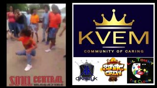 KVEM Community of Caring Static Crew, Dj Krazy K, lil Tommy the Clown at Cole Middle School