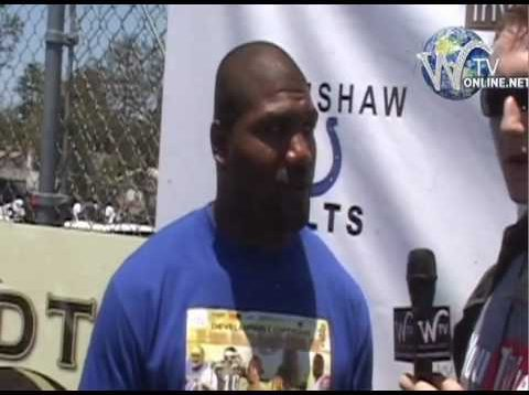 Eric Zuley Interviews Rampage Jackson aka Mr. T UFC Fighter supporting kids